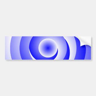 Blue Spiral Illusion Bumper Sticker