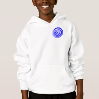 Blue Spiral Illusion by Kenneth Yoncich Hoodie