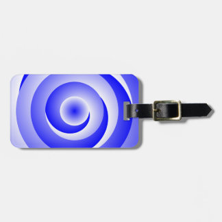 Blue Spiral Illusion by Kenneth Yoncich Luggage Tag
