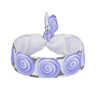 Blue Spiral Illusion by Kenneth Yoncich Ribbon Hair Tie