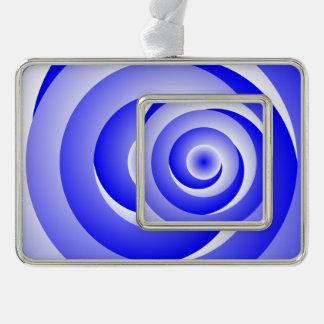 Blue spiral Illusion Christmas Ornament