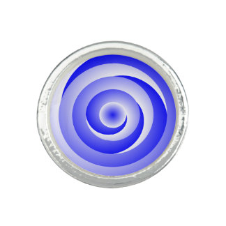 Blue Spiral Illusion Photo Rings