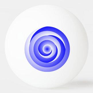 Blue Spiral Illusion Ping Pong Ball