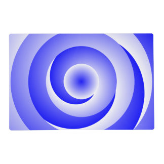 Blue Spiral Illusion Placemat
