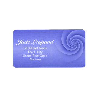 Blue Spiral in brushed metal texture Personalized Address Label