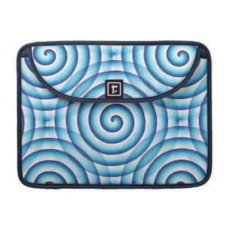 Blue Spiral MacBook Pro Sleeve
