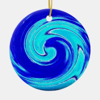 Blue spiral ornament
