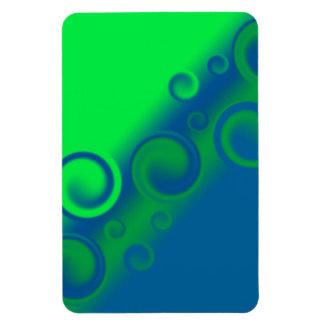 blue spiral Premium Flexi Magnet