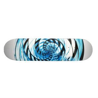 blue spiral skate board decks
