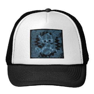 Blue Spiral Smoke Teddy Bear Trucker Hat