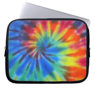 Blue Spiral Tie-Dye Laptop Sleeves