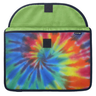Blue Spiral Tie-Dye MacBook Pro Sleeves