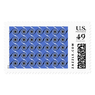 Blue Spiral Wave Graphic Pattern. Stamps