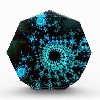 Blue Spirals Fractal Acrylic Award