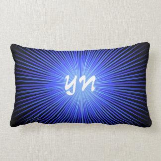 Blue Spirit Circle monogram Throw Pillow
