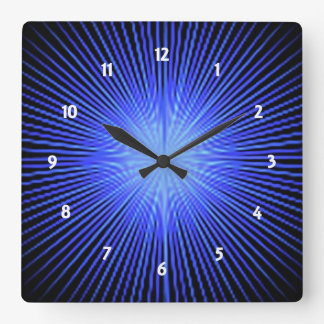 Blue Spirit Circle Square Wallclocks