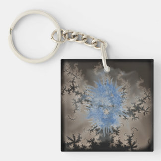 Blue Spirit In Fractal Mist Double-Sided Square Acrylic Keychain