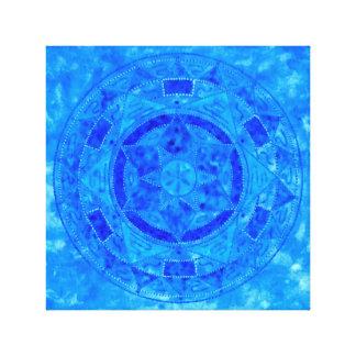 Blue Spirit Mandala Canvas Print
