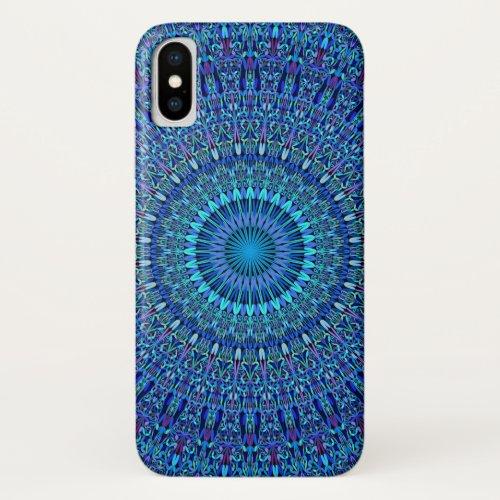 Blue Spiritual Flower Garden Mandala Phone Case