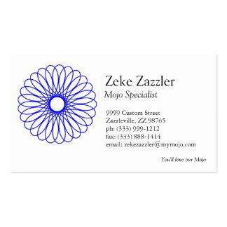 Blue Spirograph Business Card