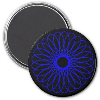 Blue Spirograph Magnet