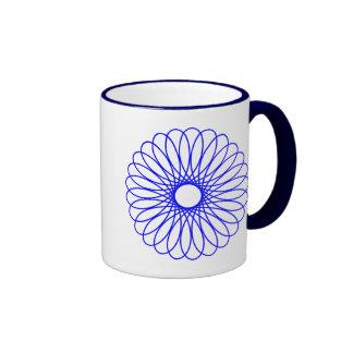 Blue Spirograph Coffee Mug