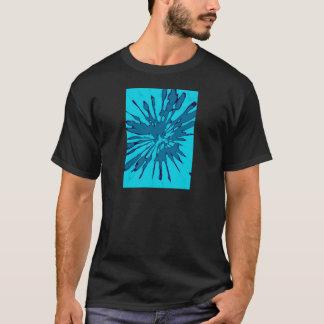 Blue Splash Abstract Design T-Shirt