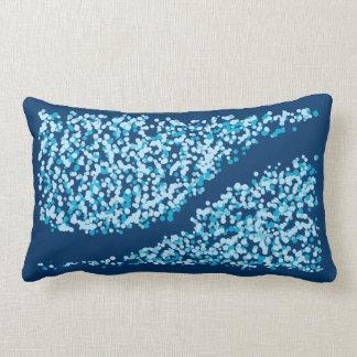 blue splash design lumbar pillow
