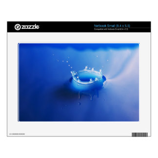 blue Splash Decals For Small Netbooks