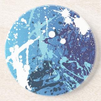 Blue Splatter Coaster
