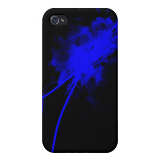 blue splatter iPhone 4/4S covers