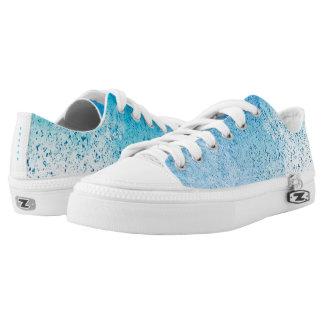 Blue Splatter Low-Top Sneakers