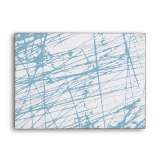 Blue Splatter Star Bar Bat Mitzvah Envelope