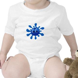 Blue Splatter Baby Bodysuit