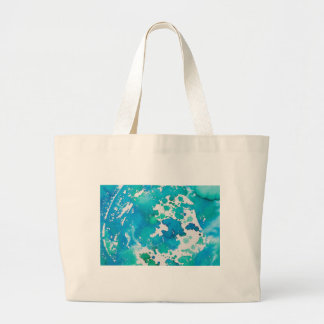 Blue Splodged Marble Effect Watercolour Large Tote Bag
