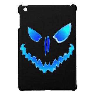 Blue Spooky Jack O Lantern Face iPad Mini Covers