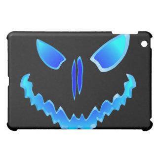 Blue Spooky Jack O Lantern Face iPad Mini Cover