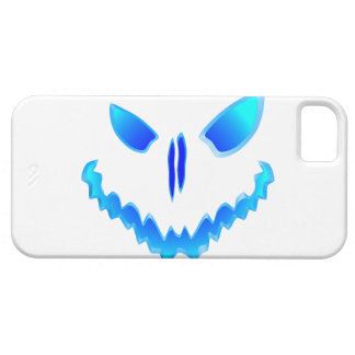 Blue Spooky Jack O Lantern Face iPhone 5 Covers
