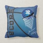 Blue Sport Basketball | DIY Name Throw Pillow