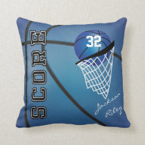 Blue Sport Basketball | DIY Name Throw Pillow