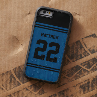 BLUE Sport Jersey Number iPhone 6 Tough Xtreme iPhone 6 Case