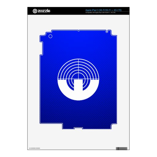 Blue Sport Shooting iPad 3 Skin