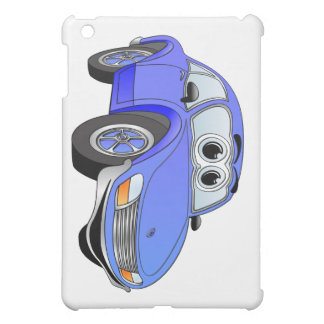 Blue Sports Car Cartoon iPad Mini Cases