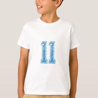 Blue Sports Jerzee Number 11 T-Shirt