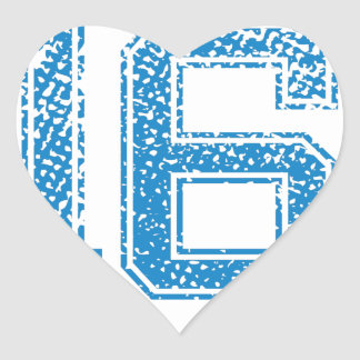 Blue Sports Jerzee Number 16 Heart Sticker