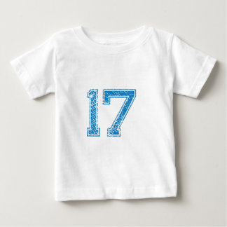 Blue Sports Jerzee Number 17 Baby T-Shirt