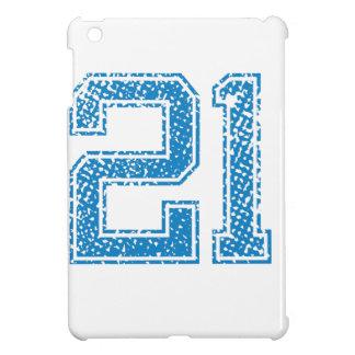 Blue Sports Jerzee Number 21 iPad Mini Covers