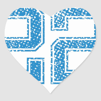 Blue Sports Jerzee Number 22 Heart Sticker