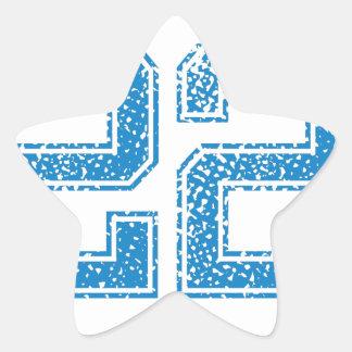 Blue Sports Jerzee Number 22 Star Sticker