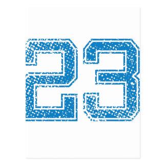 Blue Sports Jerzee Number 23 Postcard